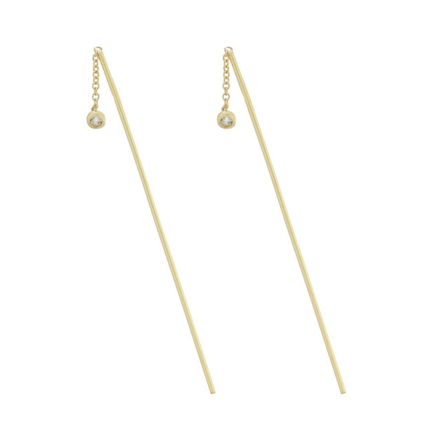 Stick and Stone Threader Through Earrings