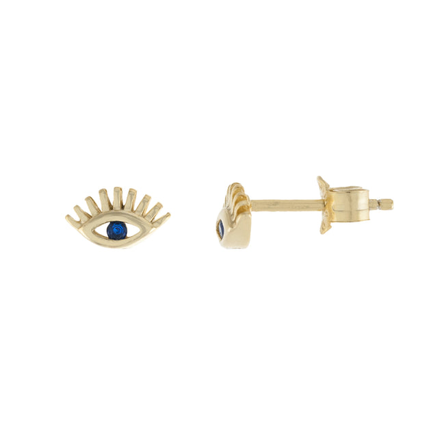 Lash Evil Eye Stud Earrings