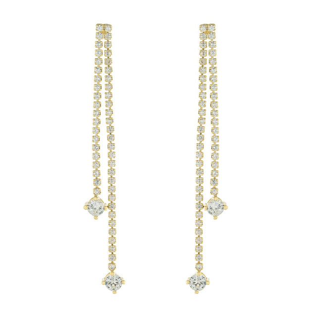 Luxe Sparkle Double Drop Earrings