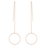 Circle and Bar Threader Earrings