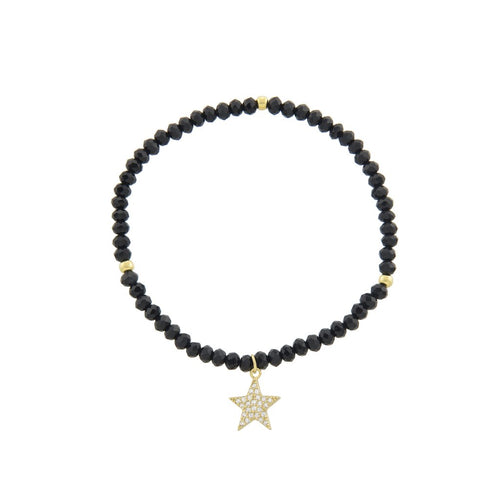Bead Stretch Bracelet with Star Charm