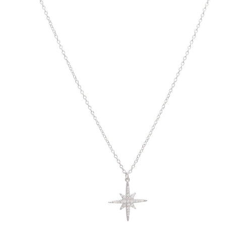 Sparkly Starburst Pendant Necklace