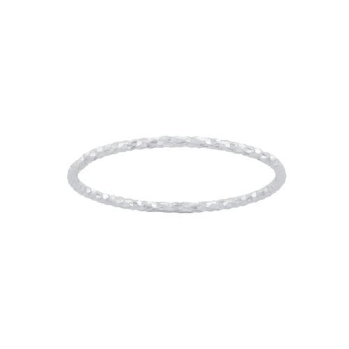 Diamond Cut Thin Plain Band