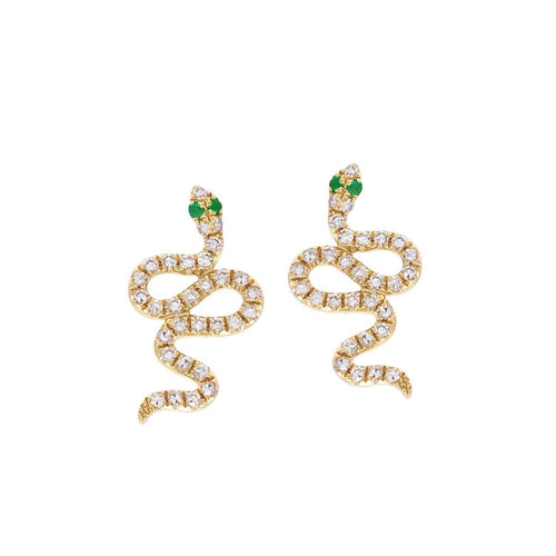Sparkly Snake Stud Earrings
