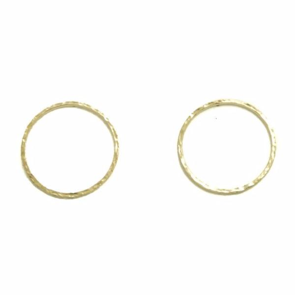 "Modern Mood 14k Solid Gold Front Facing 1"" Circle Earrings"