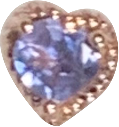 One-Off Tanzanite Twisted Rope Heart Bezel