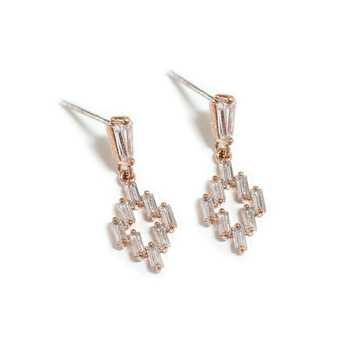 Art Deco Baguette Drop Luxe Earrings