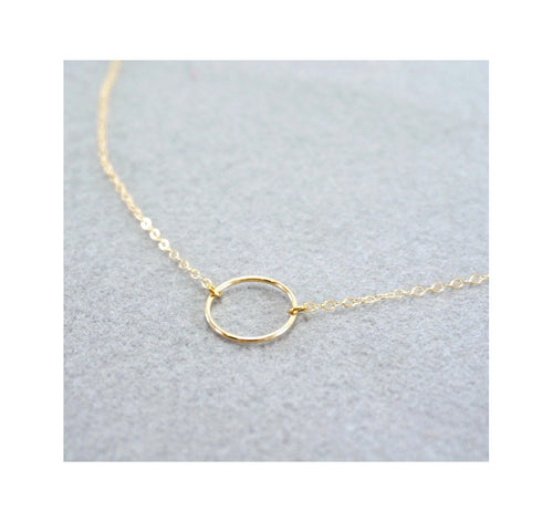 Simple Open Circle Necklace