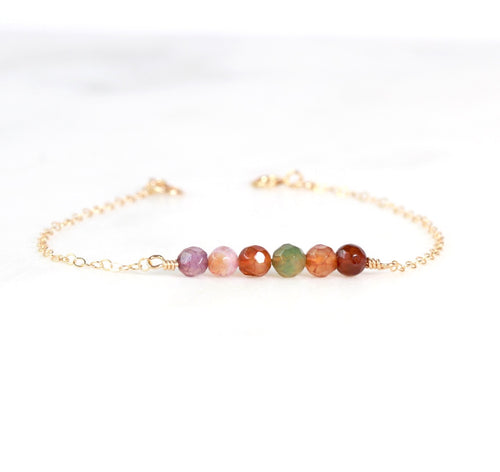 Colorful Agate Cluster Bracelet