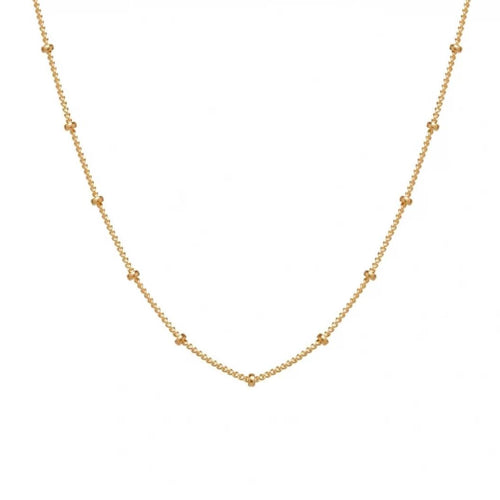 "Satellite Dot 16"" Chain Choker Necklace"