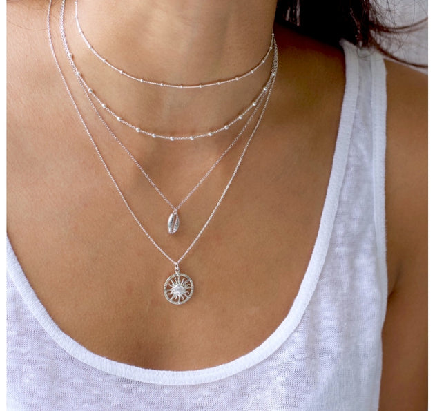 "Delicate Dot 12""-15"" Choker Chain Necklace"