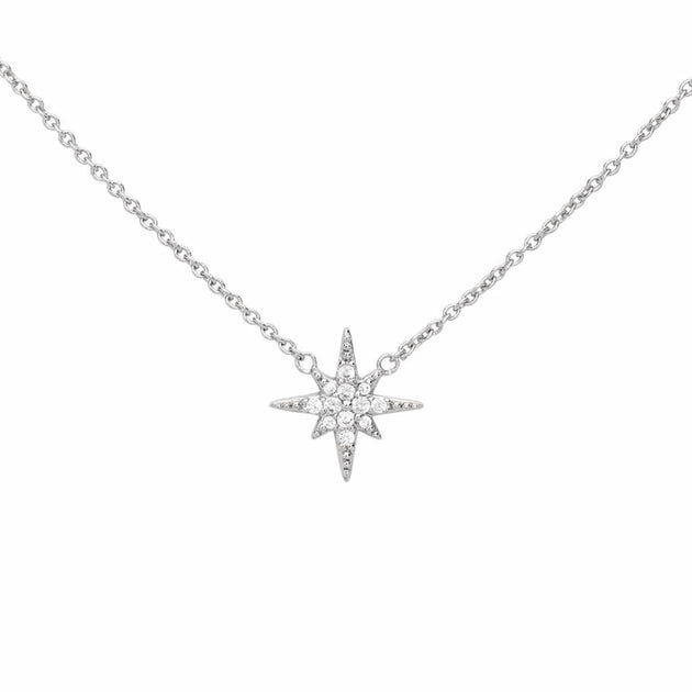 Starburst Station Pave Pendant Necklace