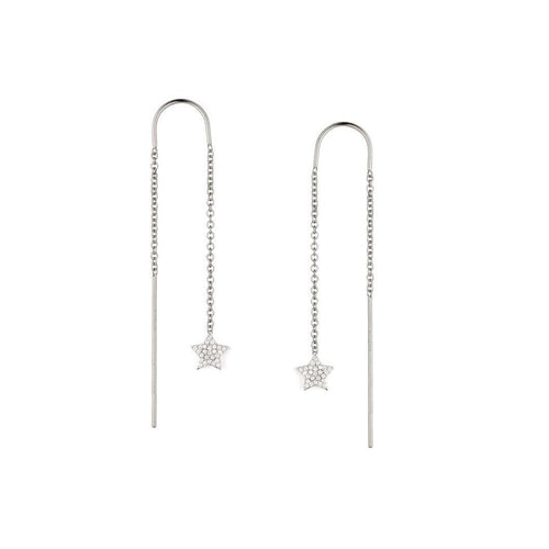 Pavé Star Threader Earrings