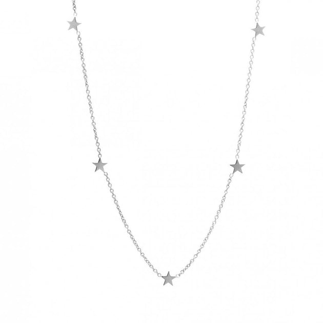 Plain Star Station Choker Necklace