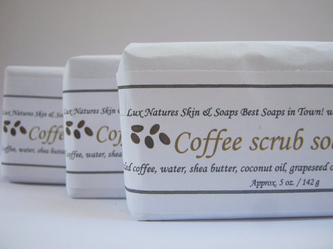 CLEARANCE Coffee scrub soap - Lux Natures Soaps & Skincare