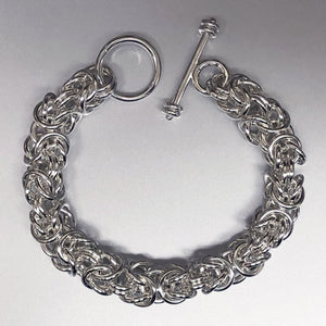 Seaxwolf robust 12 gauge handcrafted  Byzantine chain jewelry with designer clasp for men and women.