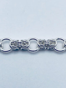 Byzantine Collette Sterling Silver Chain Bracelet, Fine Jewelry Handmade by seaXwolf