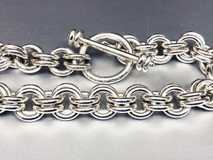 Seaxwolf handcrafted extra thick 925 sterling silver 12 gauge double link chain with designer clasp for men and women.