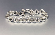Seaxwolf handmade super thick sterling silver 12 gauge double link jewelry with designer clasp for men and women.