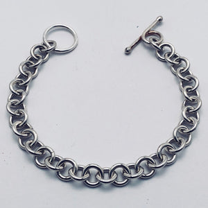 Sterling Silver 14 Gauge Single Link Bracelet