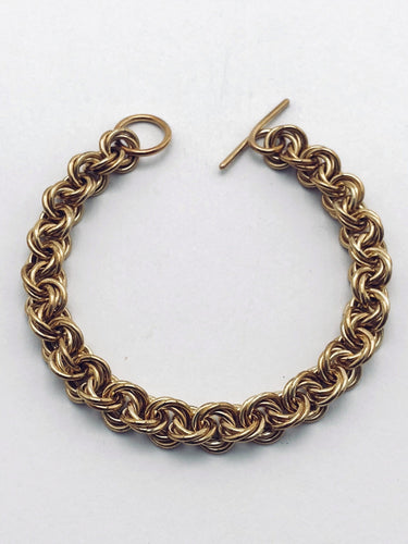 Brass 16 Gauge Twisted Roses Bracelet