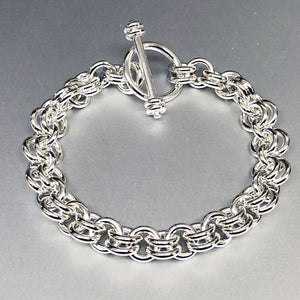 Sterling Silver Ye Ole 1-2 Bracelet - Grand 14 Gauge