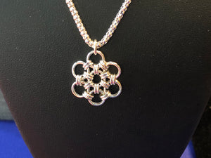Sterling Silver Snowflake (Fine 18 Gauge) and Popcorn Chain