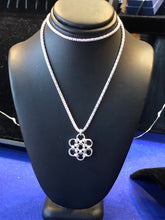 Sterling Silver Snowflake (Bold 16 Gauge) and Popcorn Chain