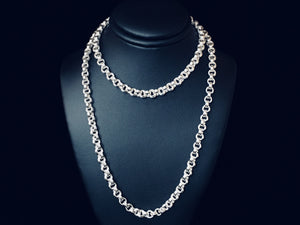 Sterling Silver Double Link Necklace - Fine 18 Gauge