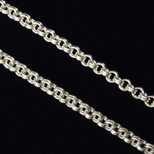 Closeup of design - Sterling silver fine double link claspless necklace by seaXwolf Handmade Fine Jewelry