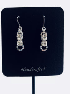 Sterling Silver fine Byzantine III (3) earrings by seaXwolf Handmade Fine Jewelry