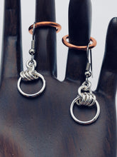 "Seaxwolf handcrafted sterling silver small wave ""four-fers"" dangle earrings."