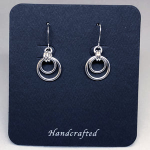 Sterling Silver Medium Hoop Earrings - Bold 16 Gauge