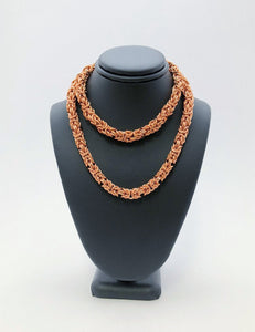 Copper 16 Gauge Byzantine II Necklace