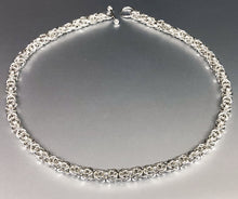 Seaxwolf handcrafted sterling silver bold Byzantine chain necklace for men and women.