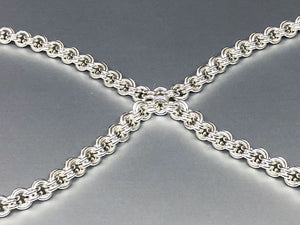 Sterling Silver Double Link Claspless Necklace - Bold 16 Gauge