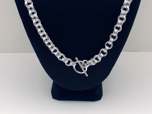 Sterling Silver Double Link Necklace - Bold 16 Gauge
