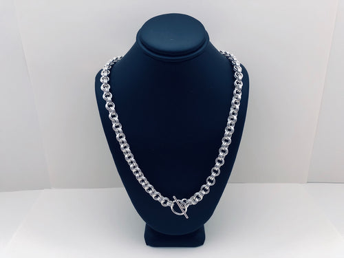 Sterling Silver 16 Gauge Double Link Necklace