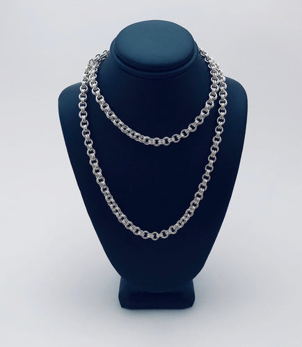 Sterling Silver 18 Gauge Double Link Necklace