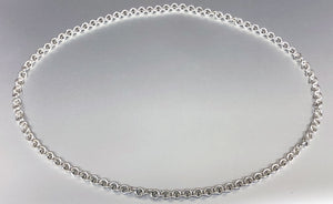 Sterling Silver Single Link (Close) Claspless Necklace - Grand 14 Gauge