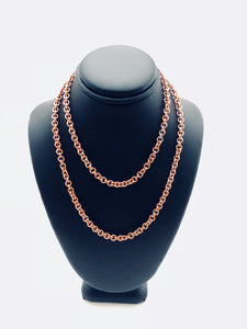 Copper 18 Gauge Single Link Necklace