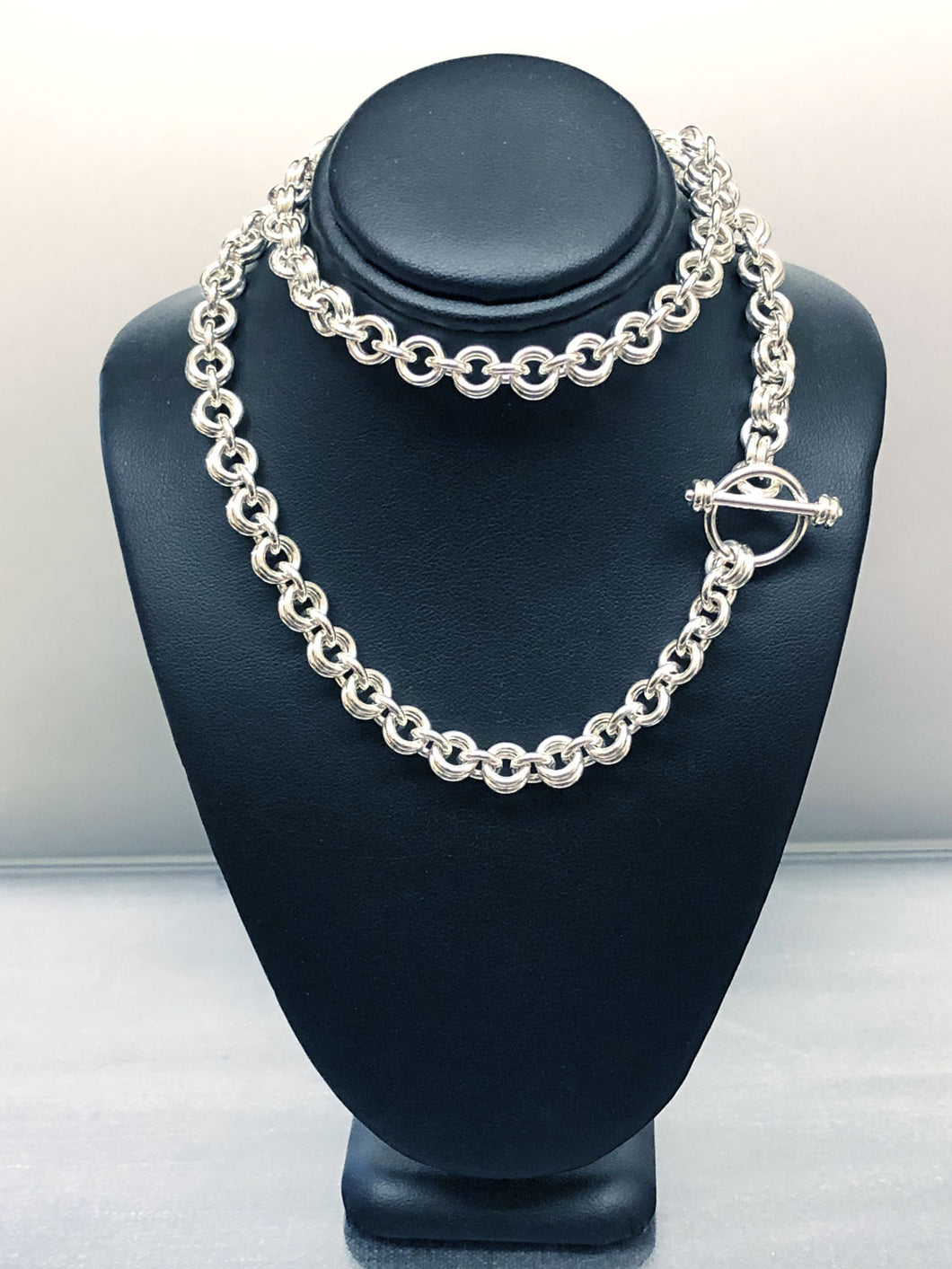 Sterling Silver Ye Ole 1-2 Necklace - Grand 14 Gauge