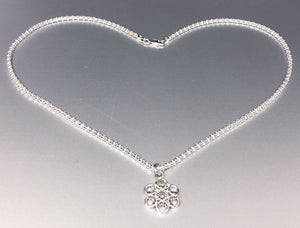 Sterling Silver Snowflake (Ultra Fine 20 Gauge) and Popcorn Chain