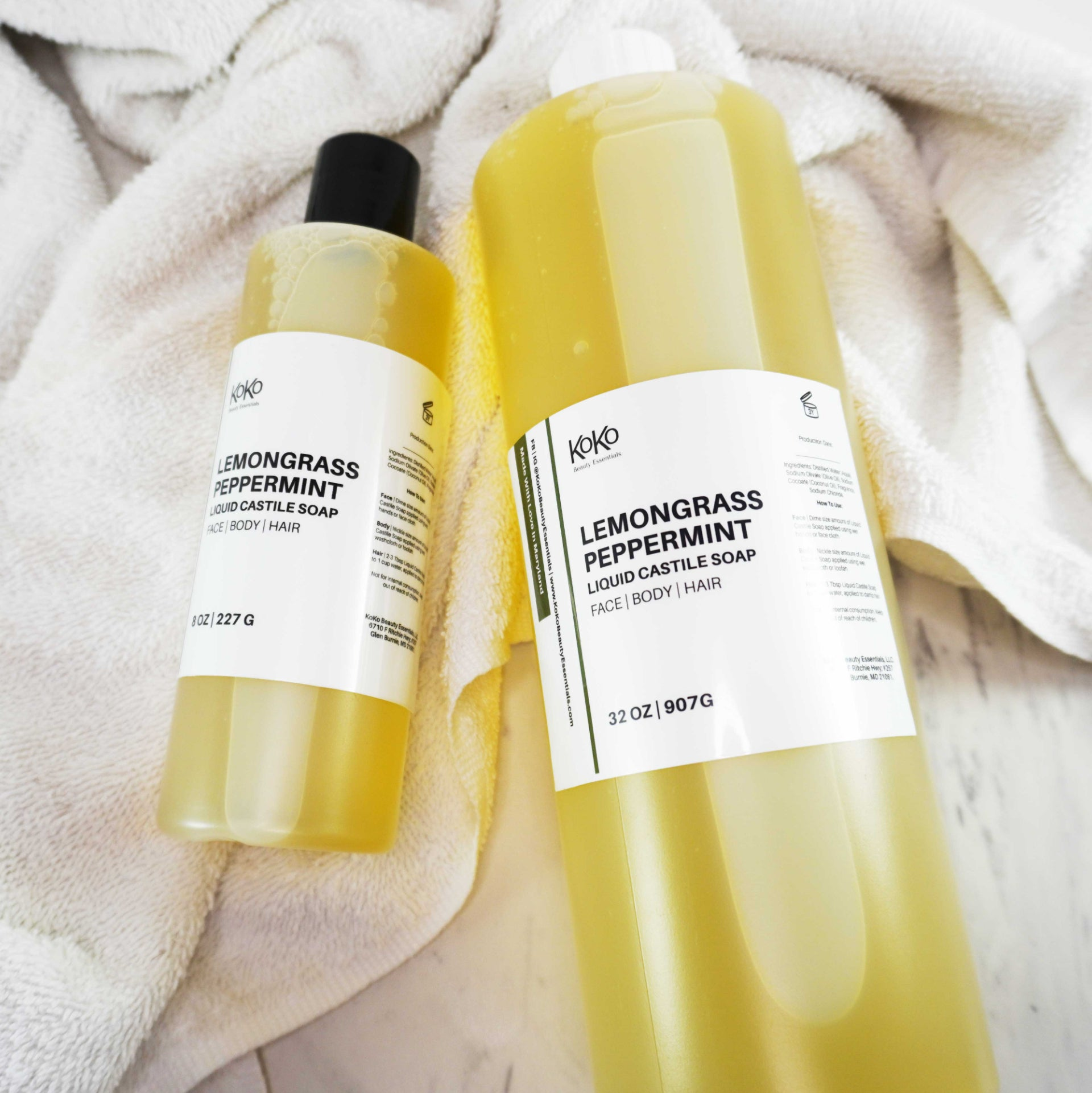 Lemongrass Peppermint Liquid Castile Soap