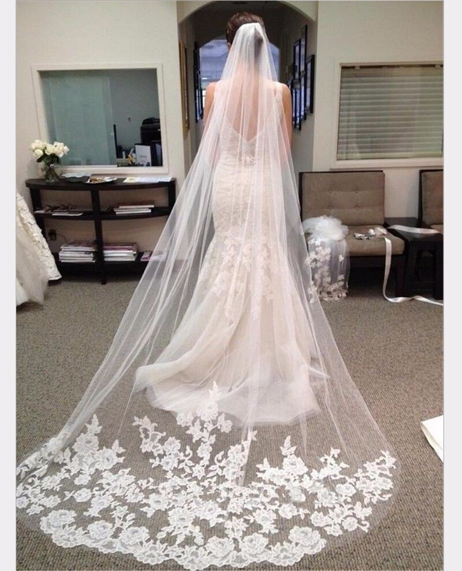Elegant Long Bridal Veil