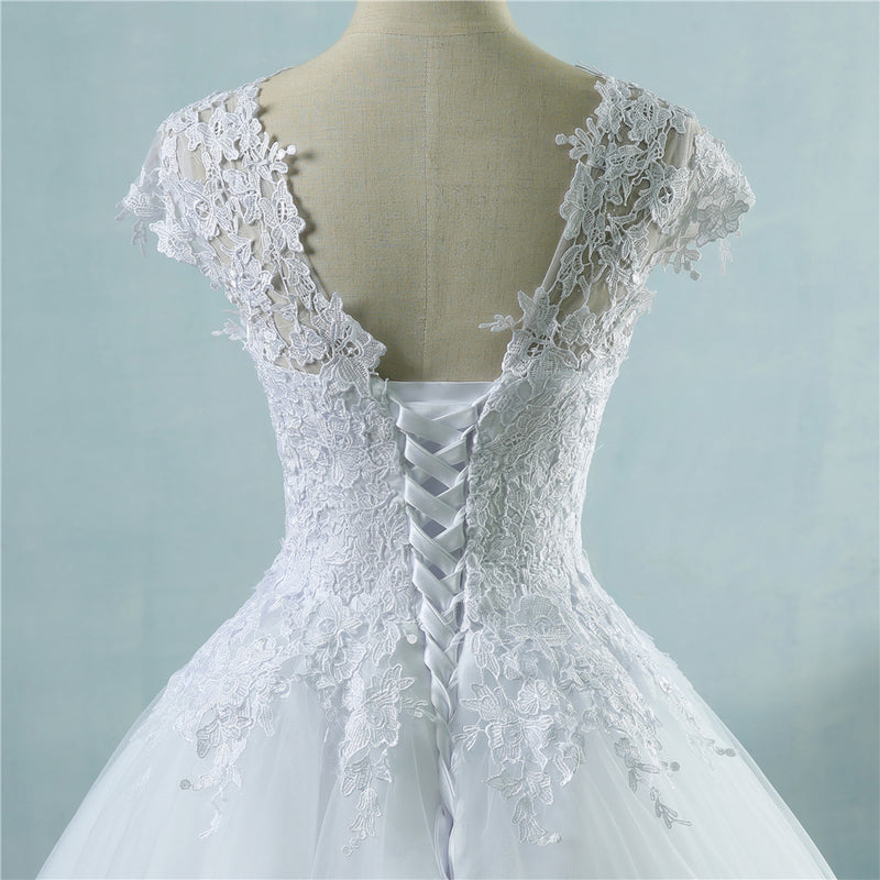 Abigail Short Sleeve Wedding Dress