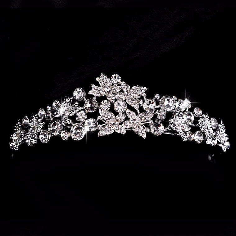 Magnificent Clear Rhinestone Crown