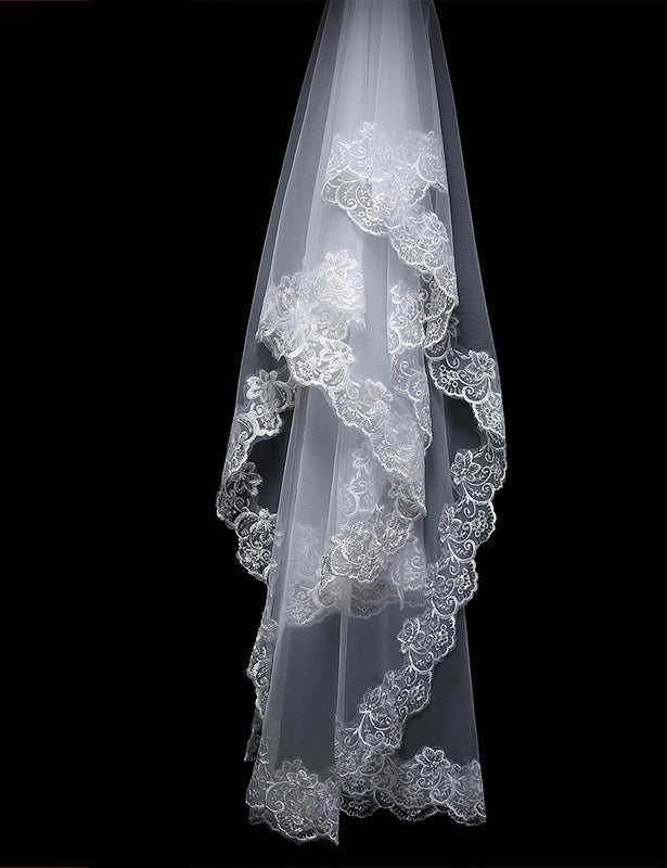 Lace Edge Bridal Veil