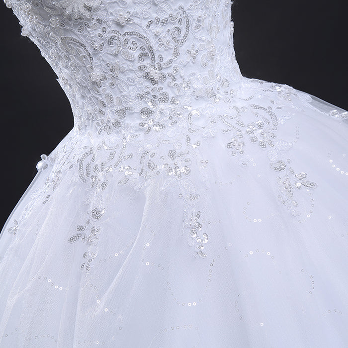 Thea  Crystal Vintage Lace Wedding Dress