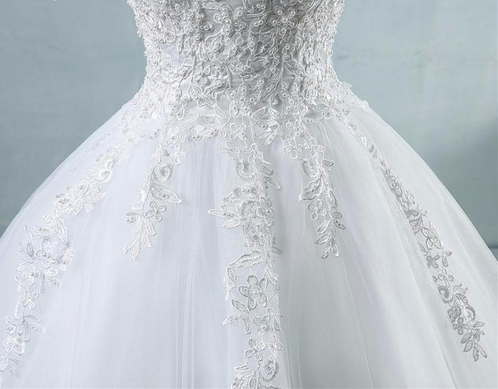 Leslie Tulle Wedding Dress